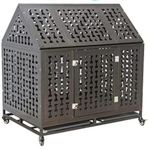 heavy duty dog crate with wheels